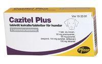 CAZITEL PLUS 50 mg/144 mg/150 mg vet tabl (koiralle)2 fol