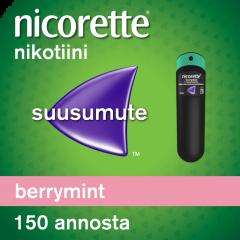 NICORETTE BERRYMINT 1 mg/annos sumute suuonteloon, liuos 150 annosta