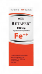 RETAFER 100 mg depottabl 100 fol