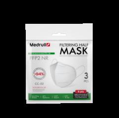 Medrull Filtering Half Mask CC-02 FFP2 hengityssuojain 3 kpl